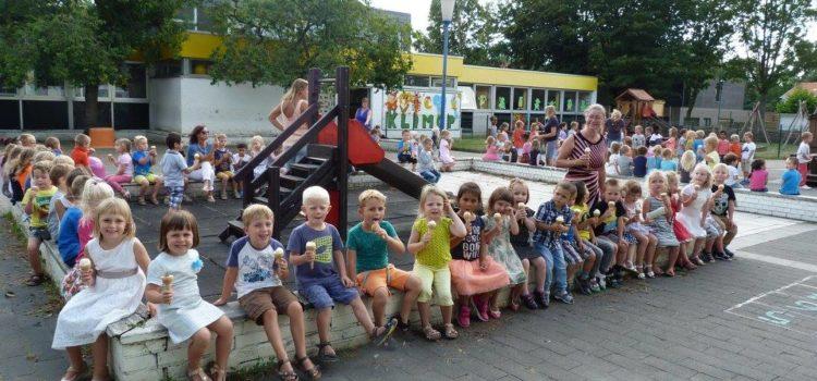 Bezoek van de ijsjeskar